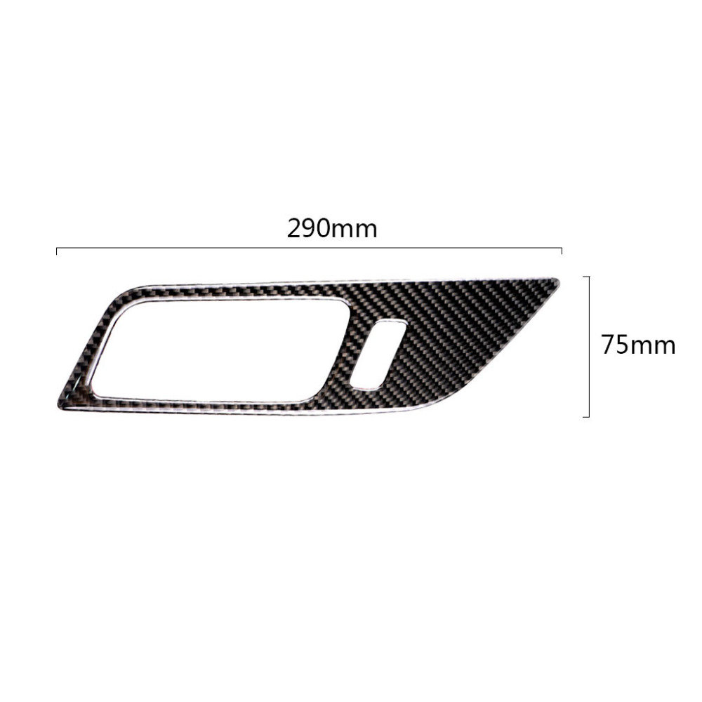 Image 3 - 2pcs Car Carbon Fiber Interior Door Panel Door Bowl Cover Sticker Trim For Ford Mustang 2015 2016 2017-in Interior Mouldings from Automobiles & Motorcycles