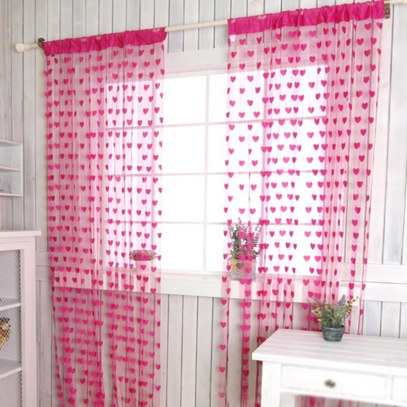 <font><b>Home</b></font> Romantic Heart Pattern Love Curtain Door Curtain Window Curtain For Bathroom <font><b>home</b></font> <font><b>Decoration</b></font>