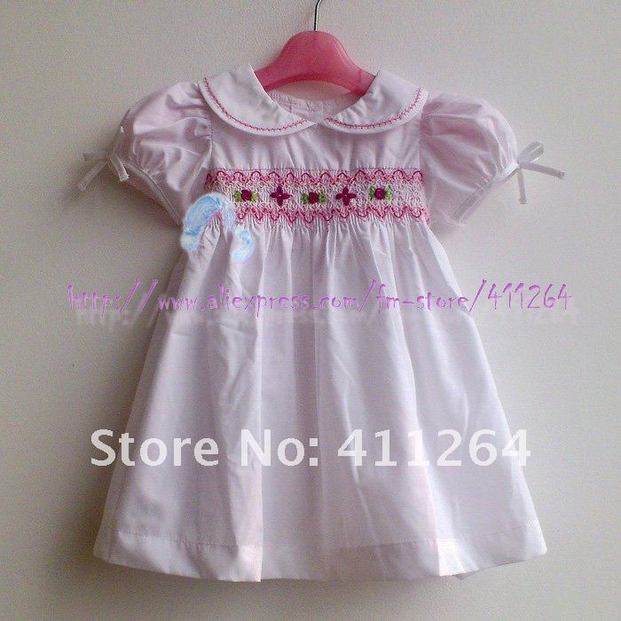 1f4c4acb6f2d 5pcs lot(1 5Y) Wholesale girls dress BABY DRESS Hand crocheted dress for  girl smocked children clothes kids wear Free shipping-in Dresses from  Mother   Kids ...