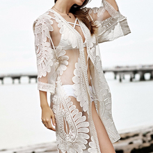 35fcc53526 2018 Lace Bikini Robe Slip Bodie For Women's Dress Summer Beach Home Loose  Cover Up