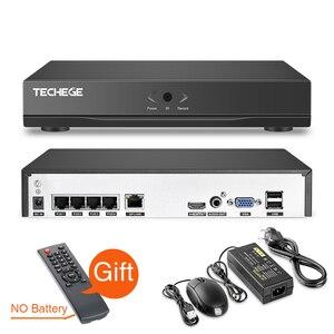 Image 3 - Techege H.265 CCTV System POE NVR Kit 4CH 5MP Audio Record Im Freien Wasserdichte POE IP Kamera Home Security Kamera System