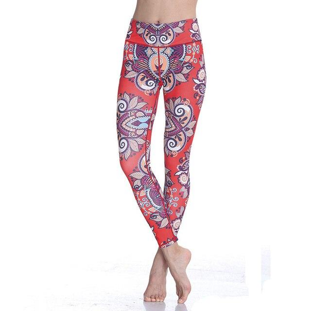44c24e08e2 Women s Bohemian Popular High Waist Yoga Leggings Geometrica Patterned  Workout Sport Pants Stretch Compression Tights