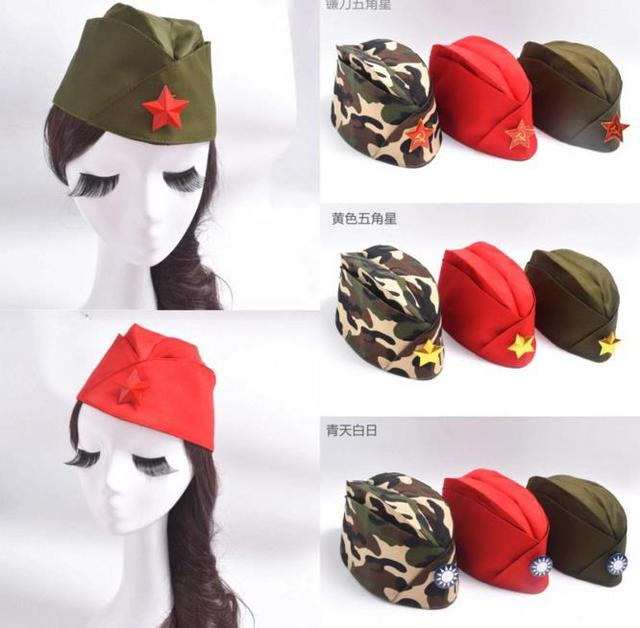 38321e24f3e19 Polyester Ship type Military Hats Soldier theme cosplay hat  cap camouflage  army green fans collection party dramatis props toy