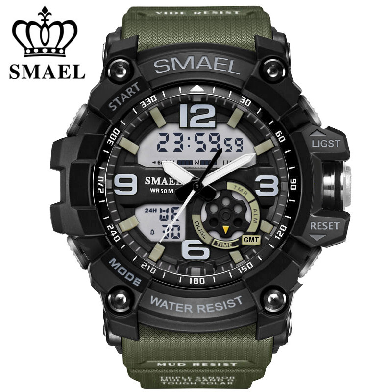 Smael Military Watches Japan Movement Digital Waterproof Brand Men's Casual LED Sprot