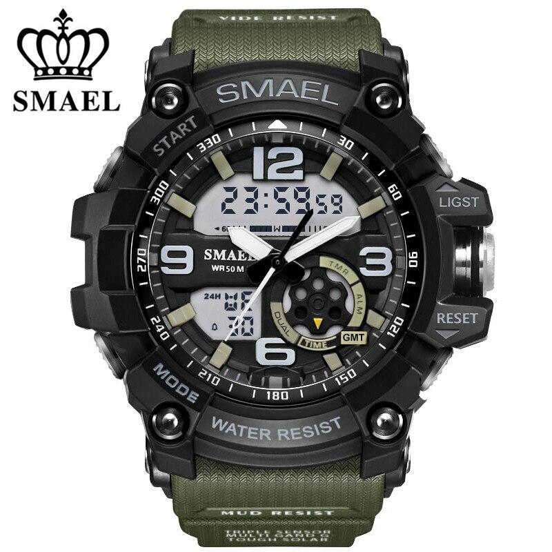 Smael Brand LED Digital Quartz Watch Men s Waterproof Sprot Watch Men Japan Movement Casual Military