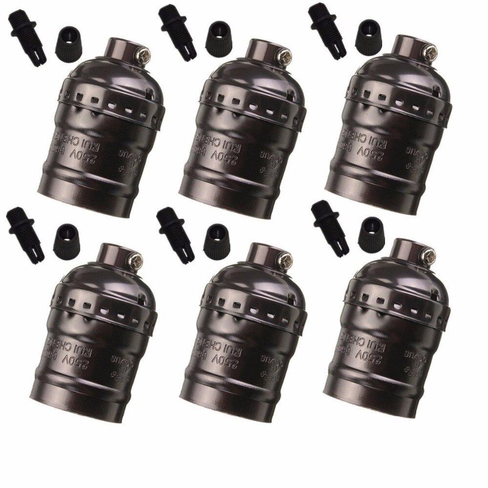 6pcs E27 Light Socket  Metal Shell Edison Retro Pendant