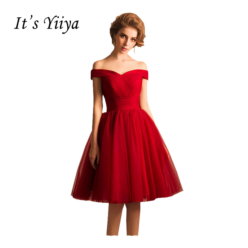 It's Yiiya Popular Red Sleeveless Boat Neck   Cocktail     Dresses   Lace Up Vintage Simple   Cocktail   Party   Cocktail     Dress   QXN113
