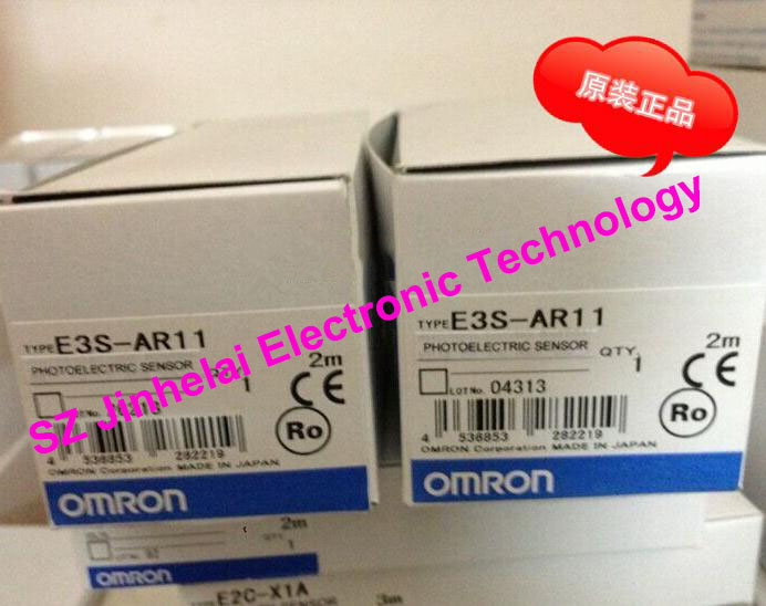 100% New and original  E3S-AR11, E3S-AD11  OMRON Photoelectric switch  10-30VDC   2M [zob] new original authentic omron omron photoelectric switch e3s cl2 2m
