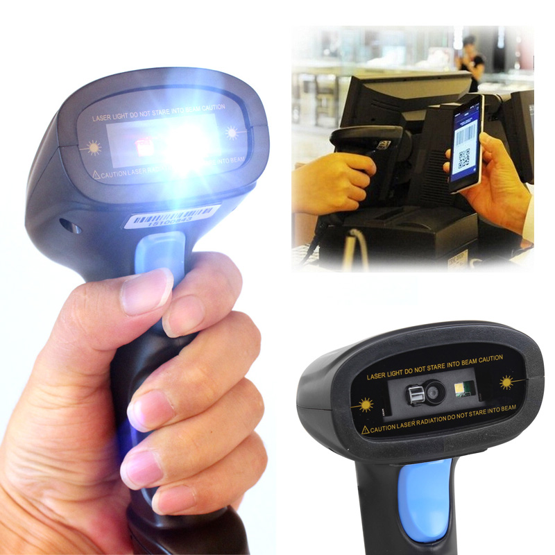 M3 2D QR Wired USB laser Bar code Scanner Reader Mobile Payment Computer Screen Scanner COM Port on PC Free Shipping!