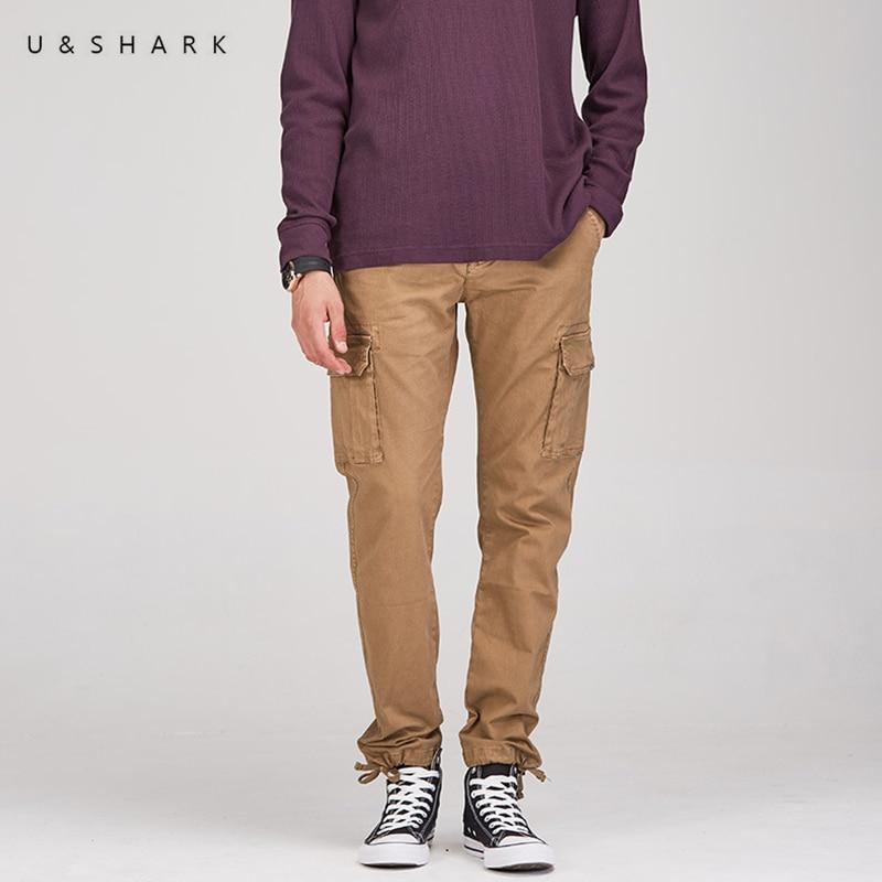 FleißIg U & Shark Mens Cargo Hosen Taktische Taschen Hosen Männer Kampf Armee Militär Hosen Casual Streetwear Hohe Qualität Lange Hosen Männlichen