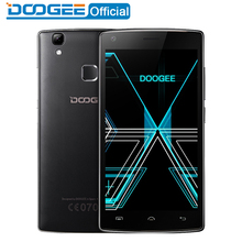 DOOGEE X5 Max mobile téléphones d'empreintes digitales 4000 mAH 5.0 InchHD 1 GB RAM + 8 GB ROM MT6580 Quad Core 1.3 Ghz WCDMA WIFI Android6.0 Double SIM