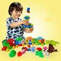 Calidad Original HUIMEI Grande Bloques de Construcción Número Tren Bloques Del Bebé Juguetes Educativos Compatibles