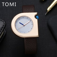 2017 TOMI New Brand Men Luxury Watch Fashion Sport Square Gold Quartz WristWatches Mens Watches Top