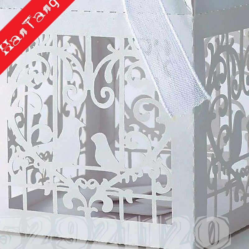10/50pcs Caixas Dos Doces Decoração de Casamento caixa de embalagem Caixa de Presente Do Chuveiro de Bebê Ou Aniversário drageias caixas caixas de casamento branco 5Z