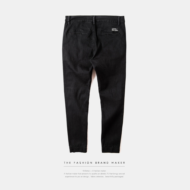INFLATION New Ripped Frayed Pants For Men Skinny Destroyed Famous Hip Hop Black Men Joggers Pants Casual High Street Pant 233W16 4