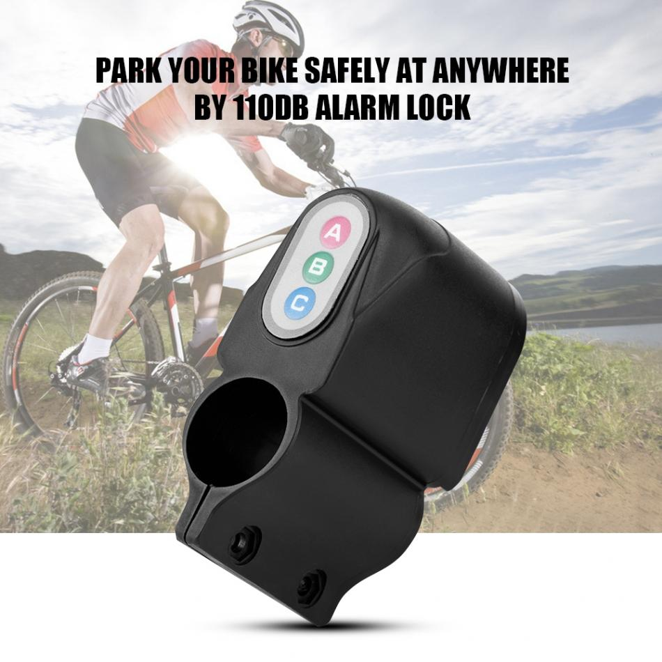 4Digit Password Bicycle Alarm Security Safety Lock Burglar Alarm Siren For Bicycle Motorcycle Tricycle Electric Vehicle personal guard safety security siren alarm with led flashlight pink 2 cr2032
