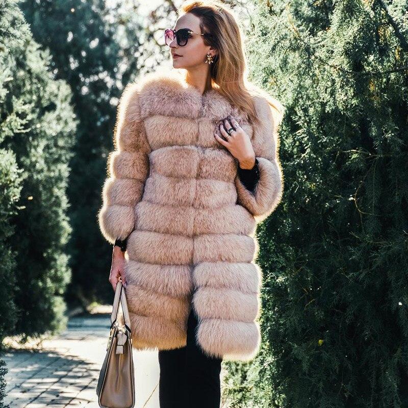 Женское меховое пальто с натуральным лисьим мехом Tatyana Furclub, удлиненная зимняя куртка со съемным мехом лисы