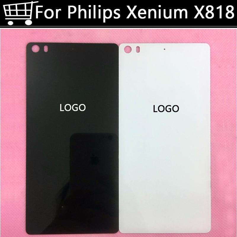 Haute qualité Avec LE LOGO de la Batterie Couverture Arrière pour Philips Xenium X818 batterie retour Logement de Remplacement de Cas Porte Pièces