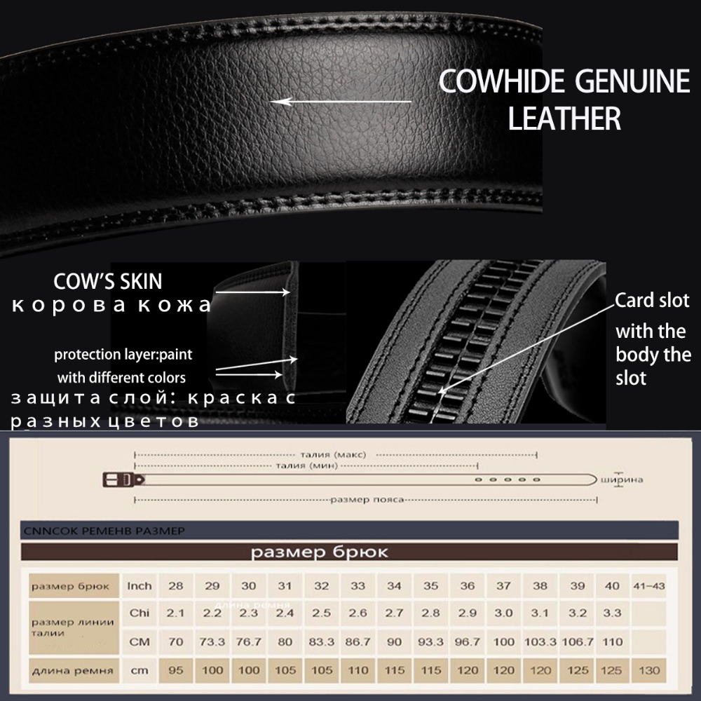 COOLERFIRE Fashion genuine leather belts automatic buckle strap male belt automatic buckle belts for men style waistband ZD066 in Men 39 s Belts from Apparel Accessories