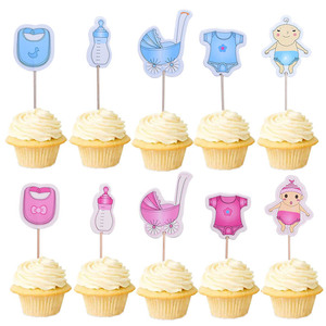 Image 5 - 20 piezas para Baby Shower, decoración para fiesta de cumpleaños de niño y niña, suministros para fiesta de cumpleaños
