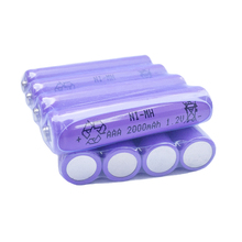 PURPLE 12pcs/lot Ni-MH AAA Rechargeable Battery 1.2V 2000mAh  NI-MH battery for toys camera green Free Shipping