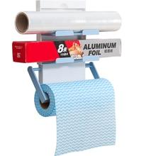 1 Pc Mrosaa Fridge Storage Rack Magnet Roll Paper Holder Kitchen Racks 3 Layers Cling Film Holder Kitchen Seasoning Pots Hanger