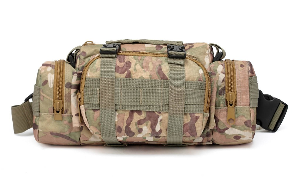 Camouflage Tactical Bag Sport Bags Military Waist Pack Shoulder Molle Camping Climbing Hiking Pouch Outdoor Bag First Aid Kit