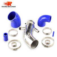 Aluminium Rohr Zufuhr Rohr Silicon schläuche Kit Anzug für TT 1,8 T mit 225 PS AL-02-SI QR-02-BL