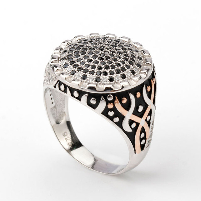 2017a92858 Authentic 925 Sterling Silver Men Finger Ring Saudi Arabia Emblem Signet  Ring Islam Retro Fashion Arab Jewelry. Price: