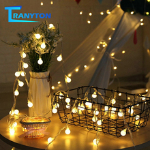 LED Ball String Lights Warm White 1M 2M 5M 10M USB / Battery Fairy Lighting for Festival Christmas Tree Wedding Home Decoration string lights new 1 5m 3m 6m fairy garland led ball waterproof for christmas tree wedding home indoor decoration battery powered