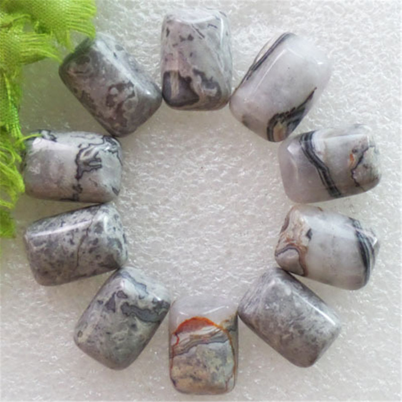 (12 pieces/lot) Wholesale Natural Wave Stone Oblong CAB Cabochon 18X12X5mm Free Shipping Fashion Jewelry J131