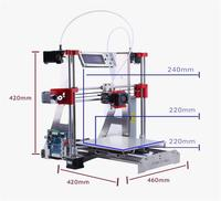 Two In One Out 3d Printer Diy Optional Dual Extruder Full Metal Reprap I3 3D Printer