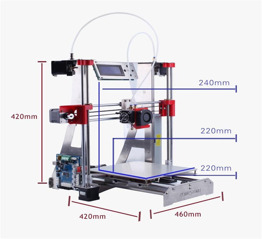 two in one out 3d printer diy Optional Dual Extruder Full Metal Reprap i3 3D Printer DIY Kit Auto Leveling Easy Assemble Free geeetech prusa i3 m201 3d printer 2 in 1 out extruder acrylic frame reprap diy printing kits
