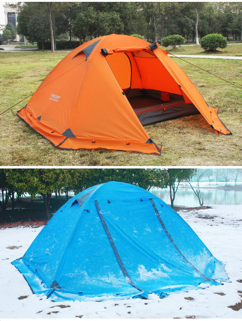 FLYTOP Outdoor Camping Tent For Rest Travel 2 Persons 3 Double Layer Windproof Waterproof Winter Professional Camp Tourist Tent (17)