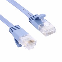 CAT6 Ultra Thin Flat Ethernet Network LAN Cable Length 15 20 30 50m Blue