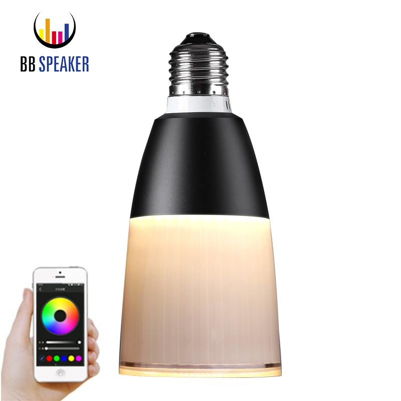 Smart Led Light e27 220v led lamp 5W 6W Acrylic Dimmable LED Bluetooth 4.0 APP Remote Control Speaker Music LED Bulb BB SPEAKER led rgb bulb lamp app remote control e27 speaker bluetooth 4 0 music led night light