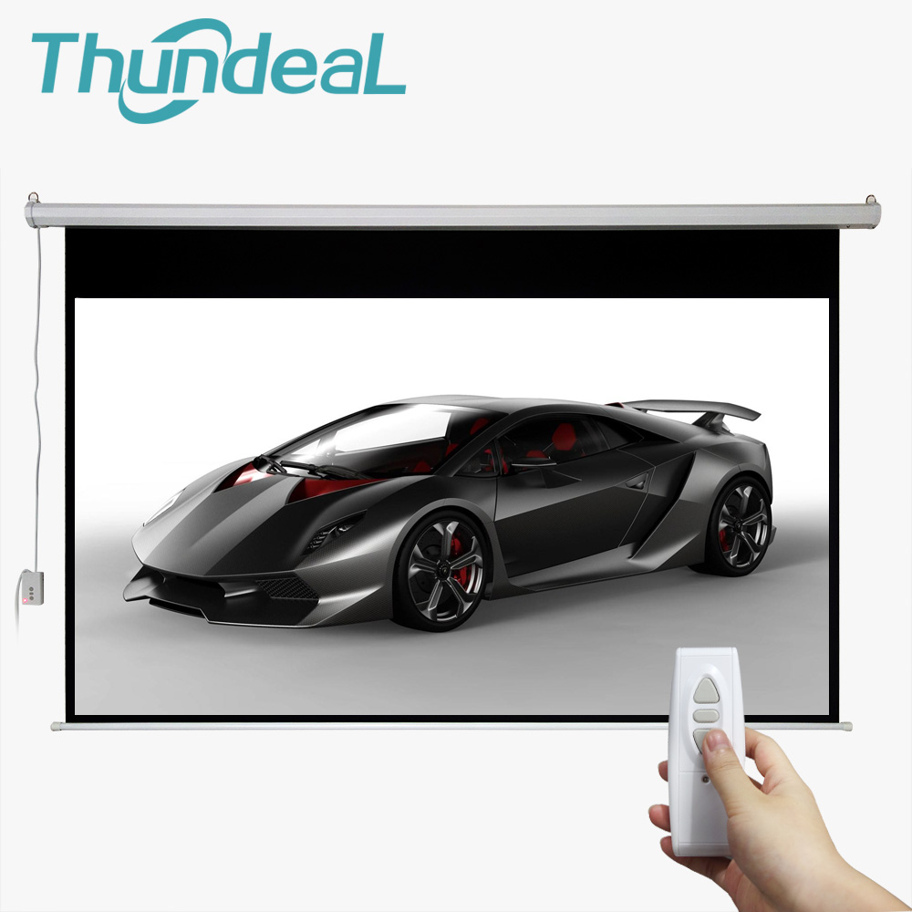 все цены на ThundeaL 100 Inch 16:9 Electric Screen For 3D LED DLP Projector Motorized Projection Screen Wall Quick Delivery for Home Cinema