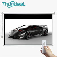 ThundeaL 100 Inch 16:9 Electric Screen For 3D LED DLP Projector Motorized Projection Screen Wall Quick Delivery for Home Cinema