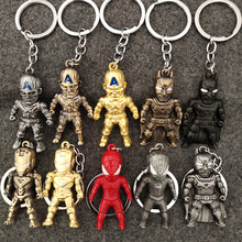 2019 New Movie Classic Iron Man Pendant Keychain The avengers alliance keychain Metal Ironman Super Hero
