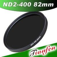 1 stücke hohe qualität 82mm schlank fader nd-filter einstellbar variable neutral density nd2 zu nd400 für canon nikon kostenloser versand