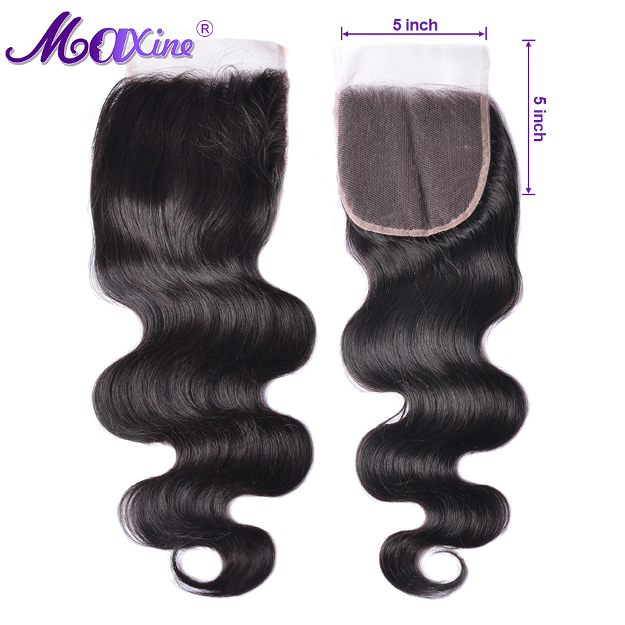 5x5 Lace Closure Body Wave Closure Brazilian Hair Maxine Natural Color 100 Human Hair Closure Remy