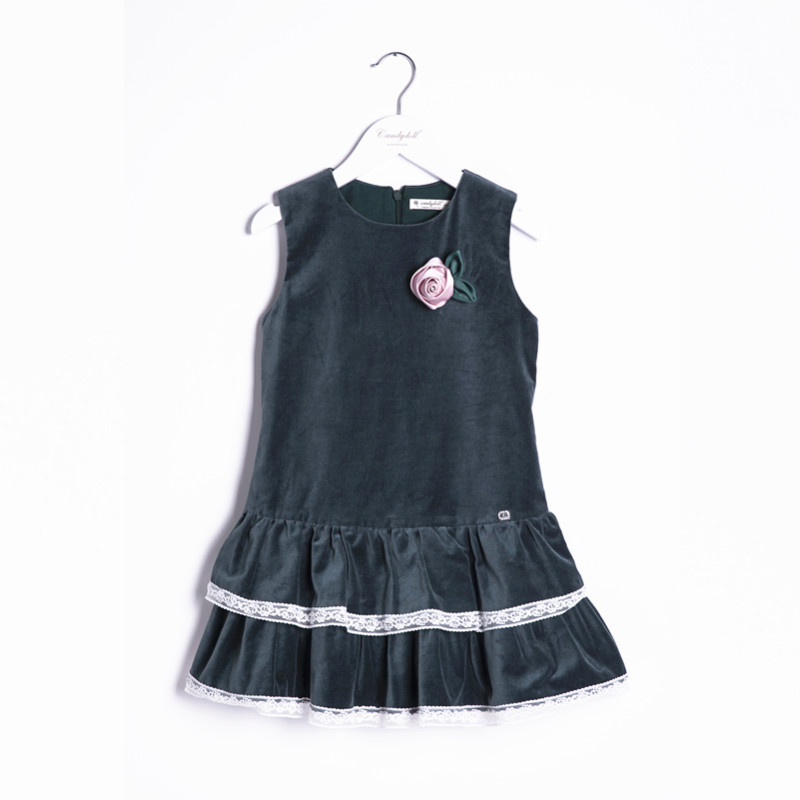 ФОТО New arrival Autumn/Winter Children's Clothing Girl Dress Girl Lace sleeveless Dress Vest Dress 6-10Y