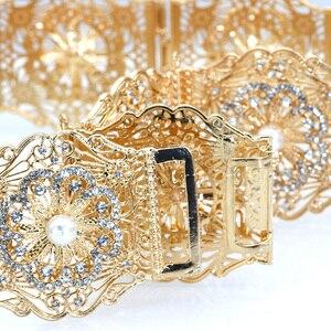 Image 5 - SUNSPICE MS ניגריה Fahion נשים חתונה שמלת חגורת המותניים שרשרת זהב כסף צבע מתכוונן אורך רחב מתכת אבזם תכשיטים