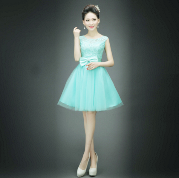 ffd9391fc4e5 high fashion 2017 short beautiful mint lace top sleeveless semi formal  party prom dress teen sexy dresses for women H2998-in Prom Dresses from  Weddings ...