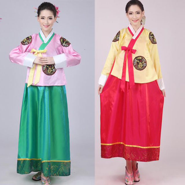 2680428637e1 Female Korean Dance Costume Minority Costume Korea Dance Performance ...