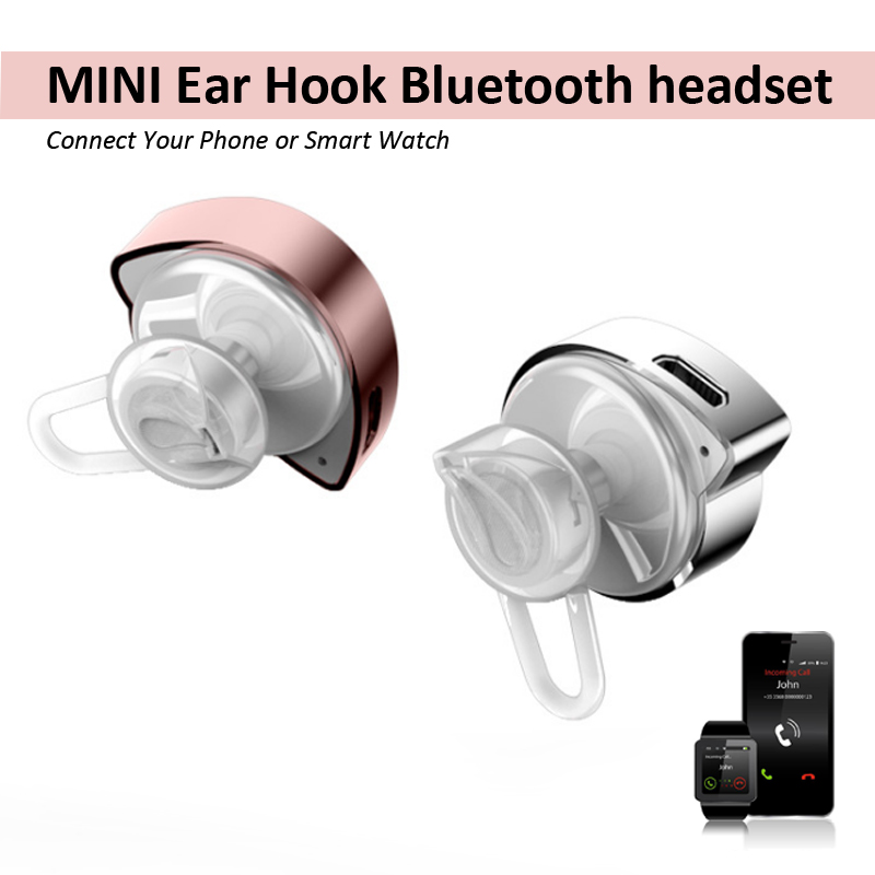 Mini stealth Wireless Bluetooth Earphones Anti-sweat Call Phone Microphone Bass Music Headset connection Phone Smart Watch PK D7 wireless service call bell system popular in restaurant ce passed 433 92mhz full equipment watch pager 1 watch 7 call button