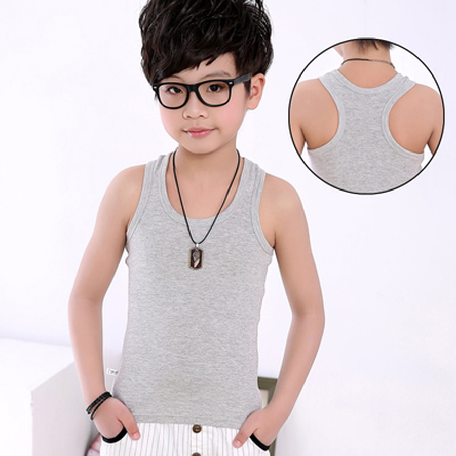 T-Shirt Baby-Boys Sleeveless Clothing Tee-Top Kids Cotton Child Summer Casual Solid Vest