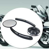 Forged Billet Aluminum Black Motorcycle CNC Deep Cut Rear Side View Mirrors For HARLEY SPORTSTER XL