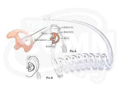 6 шт. силиконовые наушники-вкладыши в форме уха для Акустическая Воздушная трубка наушники, двухсторонняя радио гарнитура, наушники walkie talkie