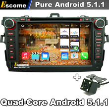 8″ Pure Android 5.1 Car DVD For Toyota Corolla 2007 2008 2009 2010 2011 WiFi 3G GPS Navigation Rear View Camera